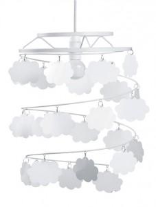 Abat-jour nuages theme bebe floreale